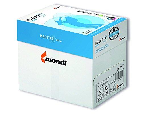 2500 Blatt Mondi Maestro EXTRA Kopierpapier 80g/m² DIN-A4 hochweiß TrioTec Technologie