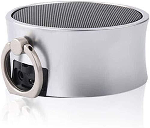 Mopoq Drahtlose Bluetooth-Lautsprecher - bewegliche Mini-Karte Kleiner Ton Metall Kanone Subwoofer-Computer Externer Musik-Player-Auto-Lautsprecher (Color : F)