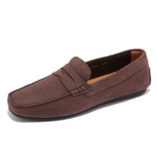 Santoni 5305AB Mocassino Uomo Suede Brown Shoe Loafer Men [6.5]