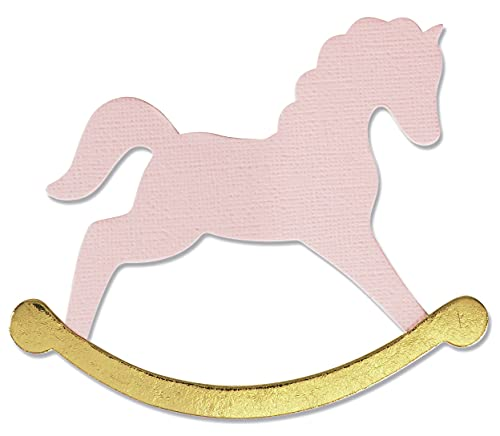 Sizzix 665349-Fustella a Forma di Cavallo a Dondolo di Olivia Rose, Multicolor, Taglia unica