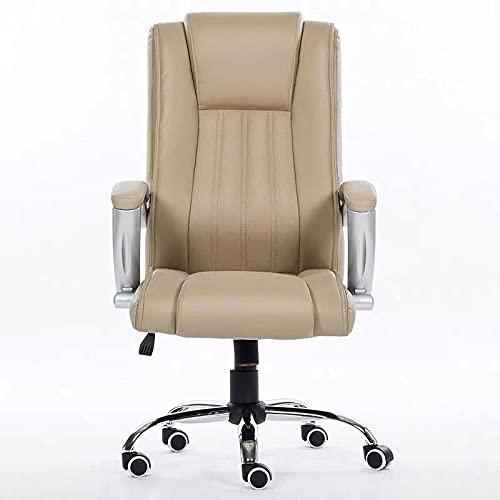 GAXQFEI Multifunctional Ergonomics Office Chair,One-Piece Aluminum Alloy Horseshoe Feet,Wear-Resistant Floor Mat Design,Household High-Density Pu Lifting Computer Chair, 4-Color 360-Degree Swivel Cha