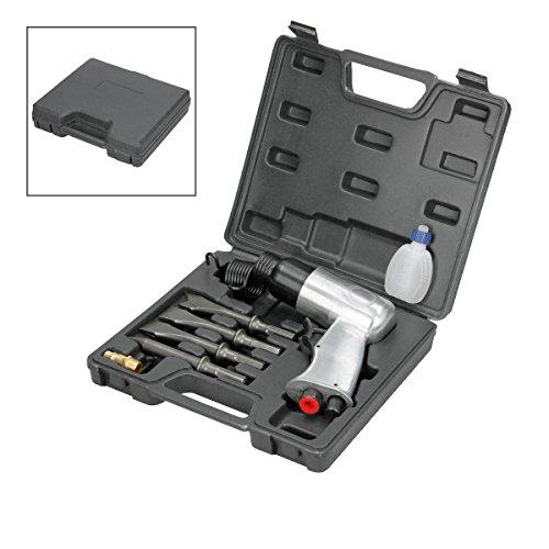 ECD Germany Marteau burineur pneumatique 6 Bar 150 l/min avec 4 burins pour différentes applications