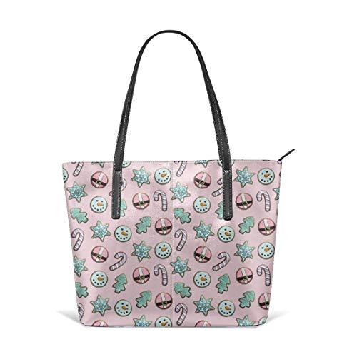 XGBags Custom Feiertagszuckerplätzchen Pastell auf rosa Feiertagsmode-Handtaschen Umhängetasche