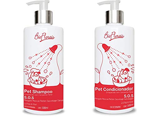 Shampoo and Conditioner Kit for dogs and cats Floral treatment SOS Rescue Rescue Bio Florals Emergency compound indicated in conflict situations