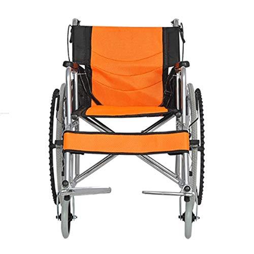 YASEking Silla de rehabilitación médica, Silla de Ruedas, Silla de Ruedas Plegable de Peso Ligero de conducción médica, Portátil sillas de Ruedas Travel Antiguo Cart Inflable pequeño sillón de Ruedas