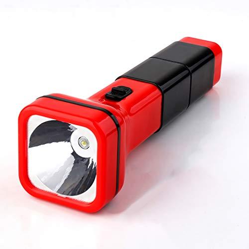 YATONG Lampe Torche Portable en Plastique, Lampe de Poche LED Rechargeable, pour la Réparation de Pêche de Chasse de Camping de Voiture de Plein Air à la Maison