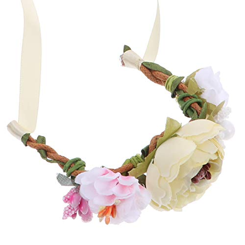Balacoo Pet Flower Headpiece Small Animal Flower Headband Cat Crown Headband Floral Garland for Rabbits Guinea Pigs Hamster Festival Wedding Party Photo Props