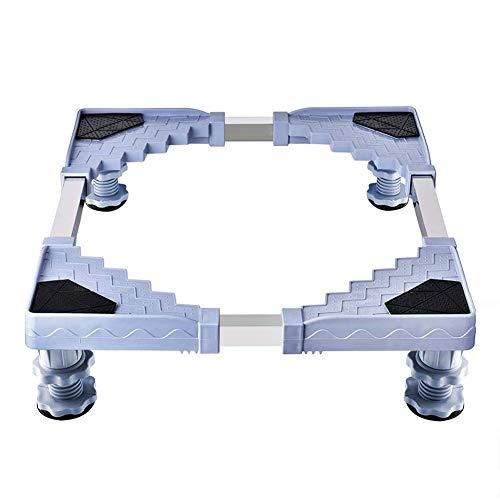 Waschmaschine Sockel Queta Untergestell für Kühlschrank, Kühlschrank Untergestell, Verstellbare Sockel für Trockner, Waschmaschine und Kühlschrank(50-66CM)