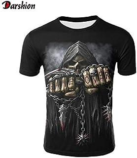 T42 Kid 120 cm 2019 New 3D Skull Poker Funny T Shirts Men Hot Brand Mens Casual 3D Printed T-Shirt Men Clothes Tshirt Summer Tops Tees Male