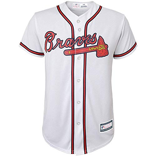 Outerstuff MLB 8-20 Youth Blank Cool Base Home Color Team Jersey (X-Large 18/20, Atlanta Braves)