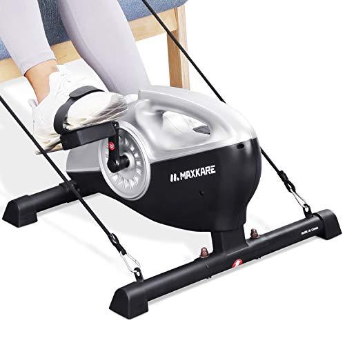 MaxKare Heimtrainer Magnetrad-Pedal-Trainingsgerät Abnehmbar und tragbar unter dem Tisch mit LCD-Monitor und einstellbarem Widerstand für Beine und Arme