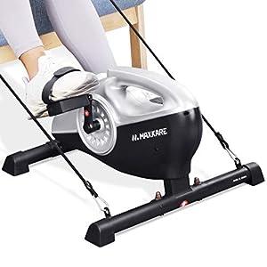 MaxKare Bicicleta de Ejercicio con Pedal Magnético, Desmontable y Portátil Debajo de la Mesa con Monitor LCD y Resistencia Ajustable para Piernas y Brazos, Ejercicio en el Hogar y la Oficina