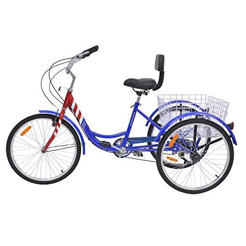 MOPHOTO Erwachsenen-Dreirad 7 Gang Dreirad für Erwachsene, Meridian 26 Erwachsene Dreirad für Männer/Damen/Senioren - 3