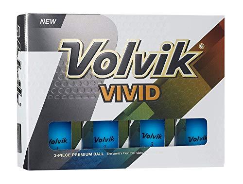 Volvik Vivid Golfbälle, 12 Stück, Unisex, 0000180, blau, One Dozen