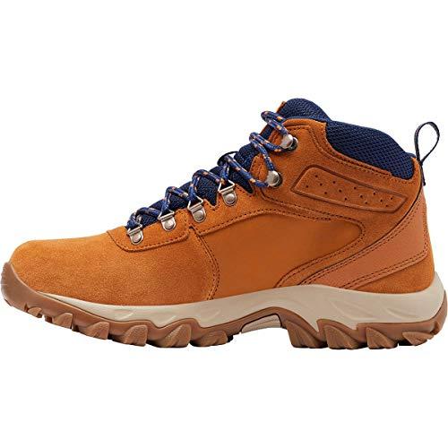 Columbia Newton Ridge Plus II Suede WP, Zapatos para Senderismo Hombre, Sombra Azul Caramelo, 43 EU