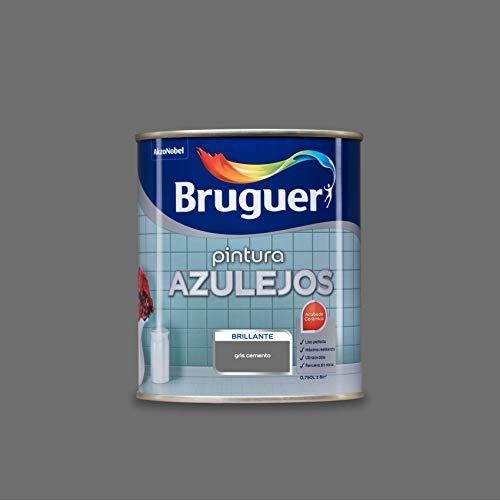 Bruguer Esmalte para Azulejos Brillante Gris Cemento 750 ml