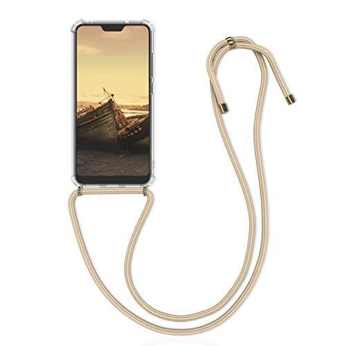 kwmobile Carcasa con Cuerda Compatible con Xiaomi Redmi 6 Pro/Mi A2 Lite - Funda Transparente de TPU con Cuerda para Colgar en el Cuello