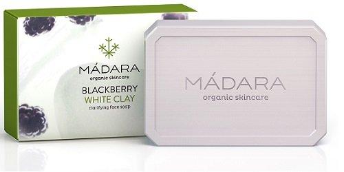 Savon clarifiant Madara - À la mûre et à l'argile blanche - Pour peaux normales, grasses et sujettes aux imperfections - 70 g