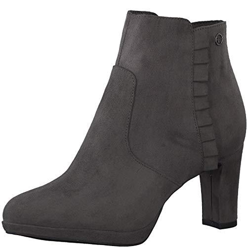 Tamaris Damen Stiefeletten, Frauen Ankle Boots, weiblich Ladies Women's Women Woman Freizeit leger Stiefel halbstiefel Bootie,Graphite,37 EU / 4 UK