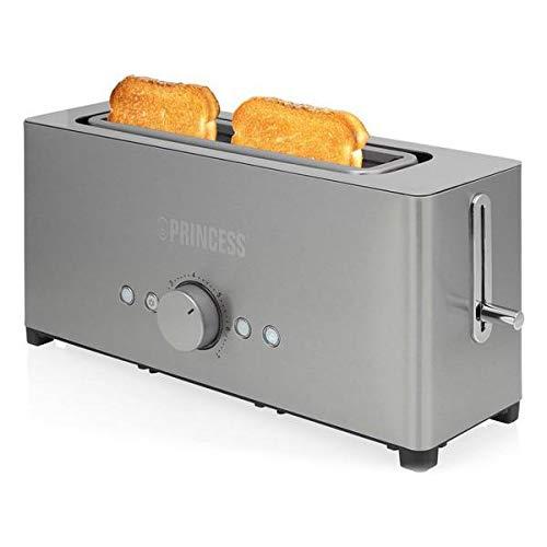 Prinzessinnen-Toaster, 1 Schlitz, breite Öffnung, Edelstahl, 1050 W, LangaJP20