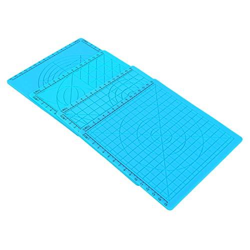 3D-Druckstift Silikonkissen Multi Drawing Templates Mat Blue Hocheffizienter 3D-Druckstift Silikonmatte für Anfänger und Kinder
