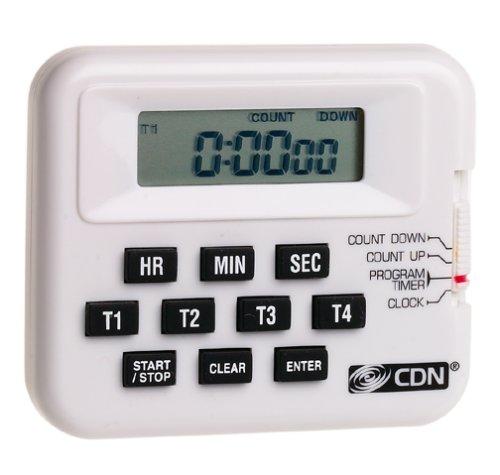 "CDN Digital Alarm, 7"", White"