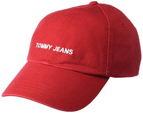 Tommy Hilfiger Unisex TJU Sport Baseball Cap, Rot (Tommy Red 614), One Size