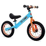 K-G Vélo Enfants Draisienne Pas de pédale avec Bell et Frein à Main for 2-6 Year Old Enfants, 6,5 kg (12 Pouces) ( Color : Blue )