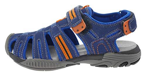 Lamino 120903 Wildleder Sandale blau orange, Groesse:34.0