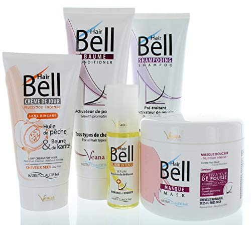 HairBell Shampoo + Conditioner + Maske + HairCream + Serum