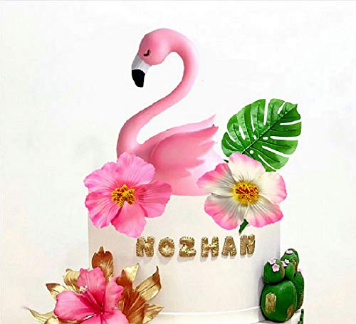 4 PCS Big Flamingo Kuchendeckel Flamingo Geburtstagstorte Dekoration Flamingo Kuchen Dekorationen