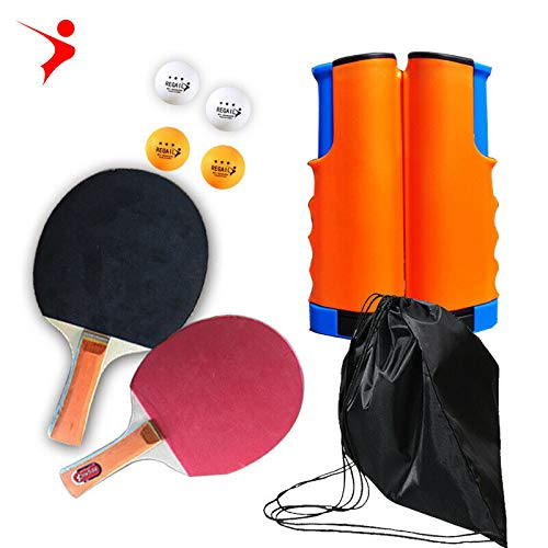 Best Prices! Surreyu Table Tennis kit Indoor Games Portable Retractable net Paddles Ball PingPong Se...