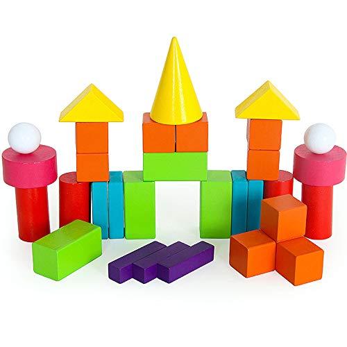 SXPC Casse-tête géométrique Aides pédagogiques mathématiques Blocs de Construction Enfants enfance Primaire élèves apprenant à connaître Les Jeux
