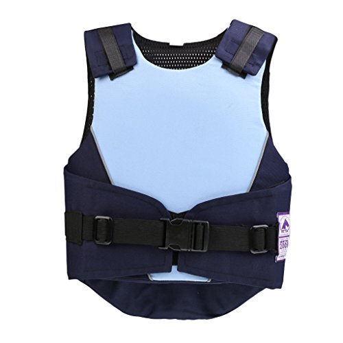 SM SunniMix Protector De Chaleco Ecuestre Para Hombres, Mujeres, Niños, Niños, Chalecos De Equitación Acolchados De Seguridad EVA - Azul, CM