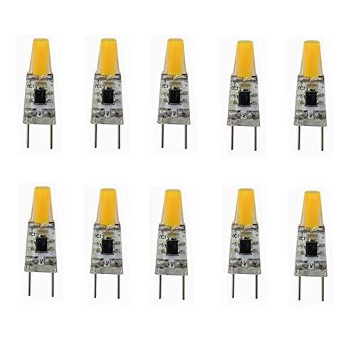 WELSUN Ampoule LED G8, 110V 3W Blanc Chaud/Blanc Froid, Ampoules à économie d'énergie (équivalent Ampoule halogène 20W) pour l'éclairage de Cuisine sous comptoir (10-Pack) (Couleur : Cool Whtie)