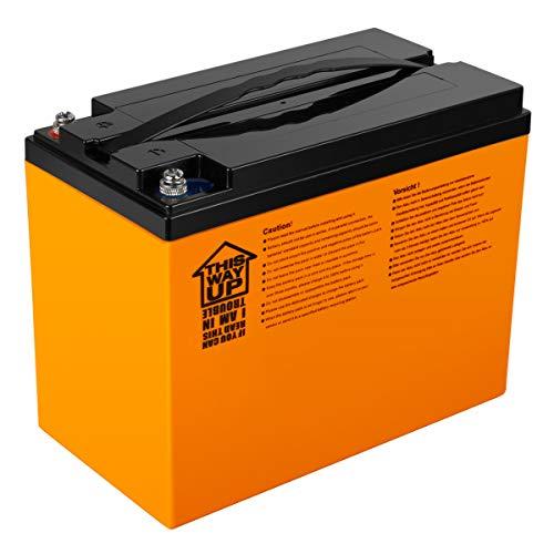 Exmate 12.8V 42Ah LiFePO4 Batería para Autocaravana, Caravana, Barco Marino, Carrito de Golf