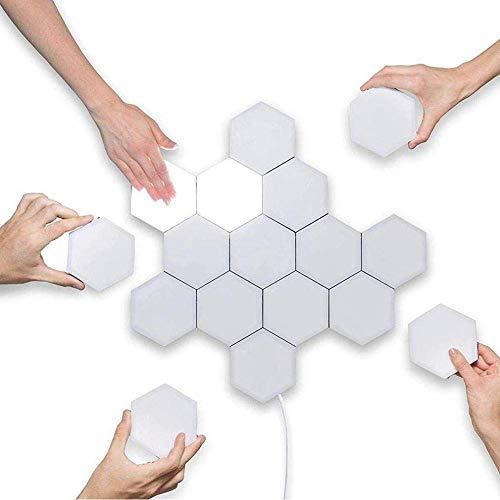 CCDSR-Modulare Wandlampe,Touch Sensitive Wandlampe,3W LED Panels Leselampe,Dekoratives Wandlichter Leseleuchte,Weiß DIY Wandbeleuchtung (Warmweiß Licht)