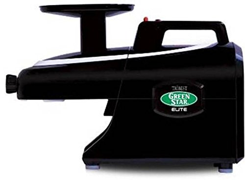 Tribest Green Star Elite GSE-5310 BLACK Deluxe Jumbo Twin Gear Juice Extractor with Pasta Maker Set