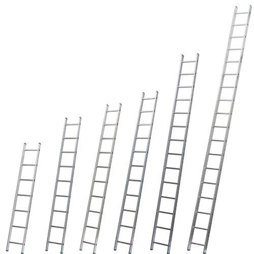 Aluminium Anlegeleiter einteilig, 18 Stufen bei 512 cm Höhe Profi 7118