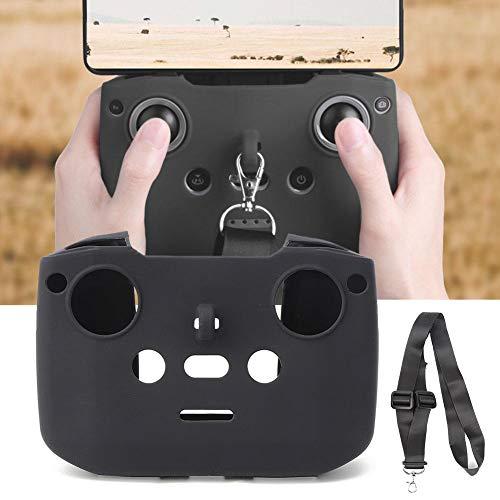 Dilwe Gehäusedeckel der RC-Drohnen-Fernbedienung mit hängendem Gurt Fahrzeuge Ersatzteile passend für Mavic AIR 2(Schwarz)
