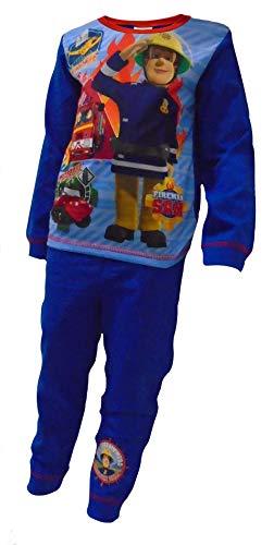 TDP Jungen Offiziell Feuerwehrmann Sam Rescue Charakter Pyjama Kinder - Fireman Sam Rettung, 86-92