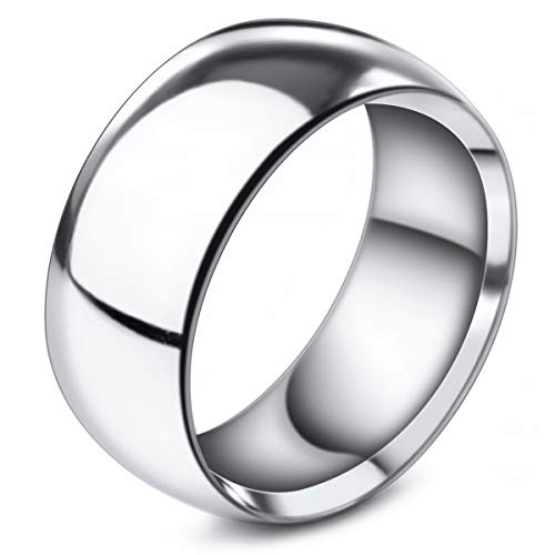 MunkiMix Ancho 10mm Acero Inoxidable Banda Venda Anillo Ring El Tono De...