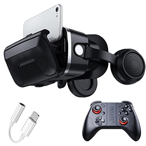 3D Gafas VR, Gafas de Realidad Virtual, Compatible con iPhone y Android para películas y juegos 3D, para iPhone 13/12/11/X/8/7, Samsung S20/S10/Note10, Xiaomi, Huawei, etc.(Color:B)