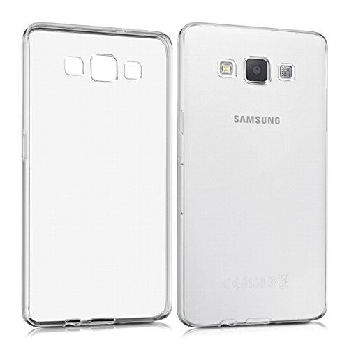 kwmobile Coque Compatible avec Samsung Galaxy A5 (2015) - Housse Protectrice pour Téléphone en Silicone Transparent
