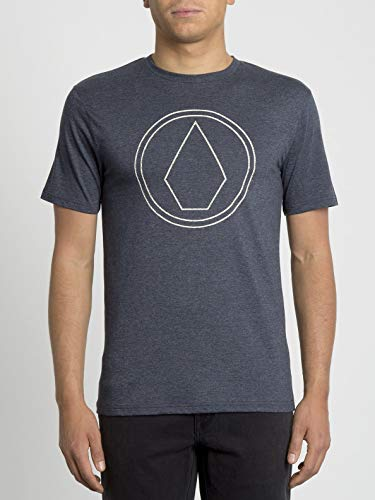 Volcom Pinstone HTH SS T-Shirt à Manches Courtes pour Homme S Bleu (Bleu Marine)