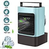 OVPPH Portable Air Conditioner, Personal Air Cooler Fan Mini Evaporative Cooler Desk Table Fan,...