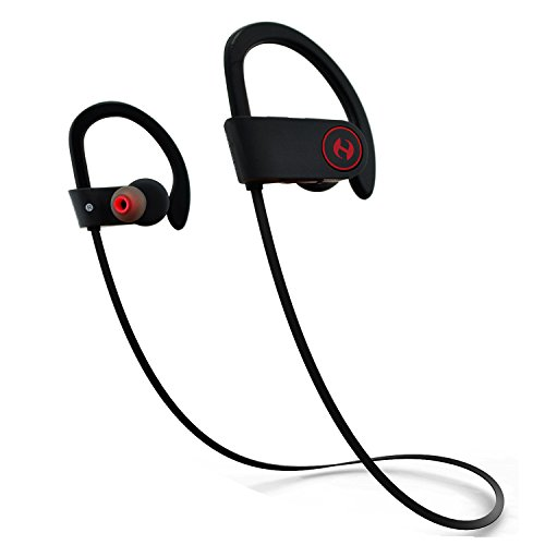 Bluetooth Headphones, Hussar Magicbuds Best Wireless Sports Earphones with Mic, IPX7 Waterproof, HD Sound with Bass, Noise Cancelling, Secure Fit, up to 9 Hours Working time (2020 Upgraded)