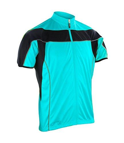 Spiro pour Homme Fermeture Éclair complète Cyclisme pour Femme XXL Aqua/Black