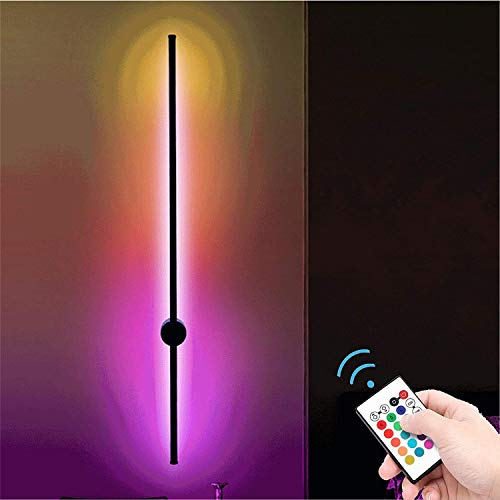 ANKBOY RGB Wandleuchten Smarte LED Dimmbar Wandlampen mit Fernbedienung, Steuerung Farbwechsel Lichtsaeule Leselampen 15W Innen Wandspots, Wand Lampe Bar Schlafzimmer Wohnzimmer Flurlampe Leselicht