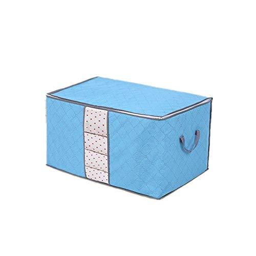 Yosoo - 1 bolsa de Almacenamiento de carbón de bambú con cremallera, grande, duradera y plegable, para ropa, Colchas, Cojines, Mantas